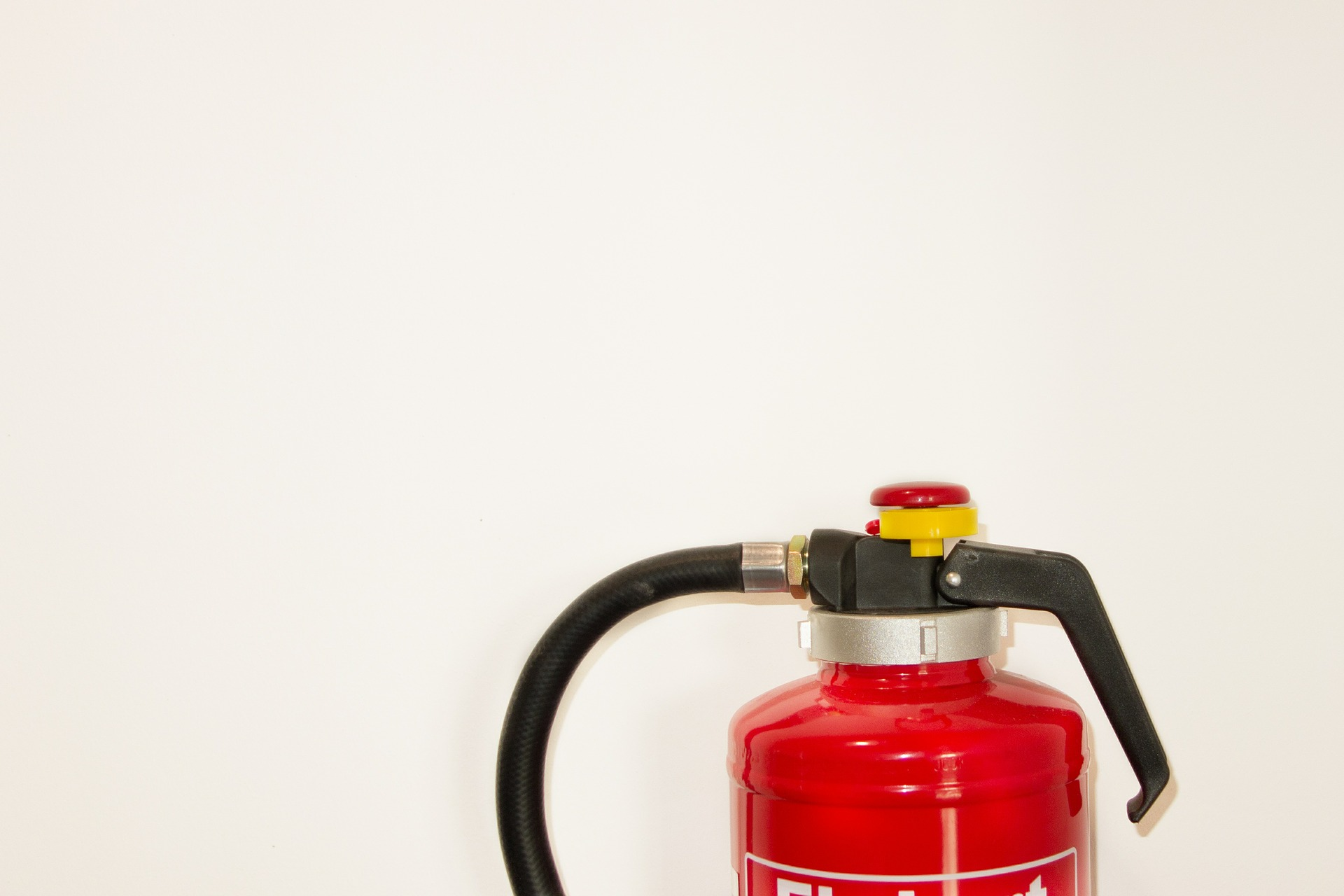 fire extinguisher in a house