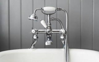 bathroom faucet and plumbing